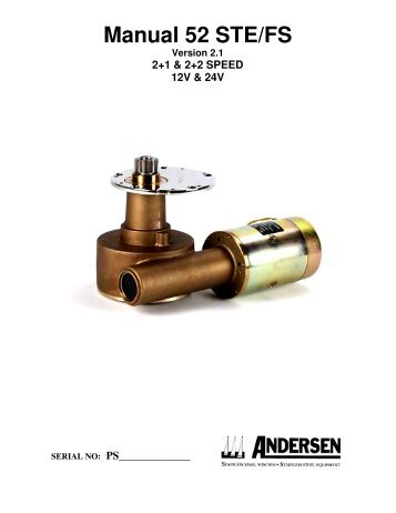 Manual 52 STE/FS - ANDERSEN Winches