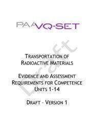 TRANSPORTATION OF RADIOACTIVE MATERIALS ... - Ramtuc
