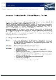 Manager Professioneller Einkaufsberater (m/w) - networkPLS