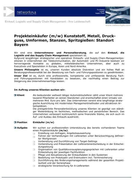 Kunststoff, Metall, Druck- guss,  Umformen, Stanzen ... - networkPLS
