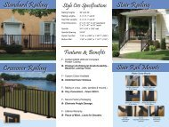 Aluminum Railing Click Here - Chester County Fencing