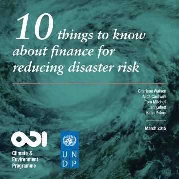 Finance for reducing disaster risk-10-Things-to-know-summary