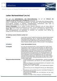 Leiter Serieneinkauf (m/w) - networkPLS