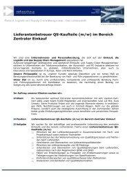Lieferantenbetreuer QS-Kaufteile (m/w) im Bereich ... - networkPLS