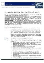 Strategischer Einkäufer Elektrik / Elektronik (m/w) - networkPLS