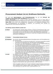 Procurement Analyst (m/w)  - networkPLS