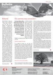 2_2013_Couverture - Gebet für die Schweiz