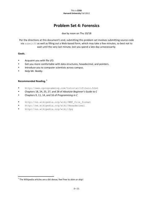 Cs50 Pset4 Solution