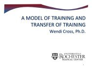 A Model of Training and Transfer of Training (Cross, 2009) - OBSSR