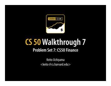 Walkthrough 7 - Index of