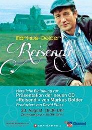 Herzliche Einladung zur - Markus Dolder