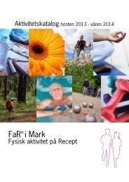 FaR® - fysiskt aktivitet på recept - Marks kommun