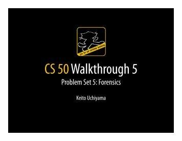 Walkthrough 5 Slides