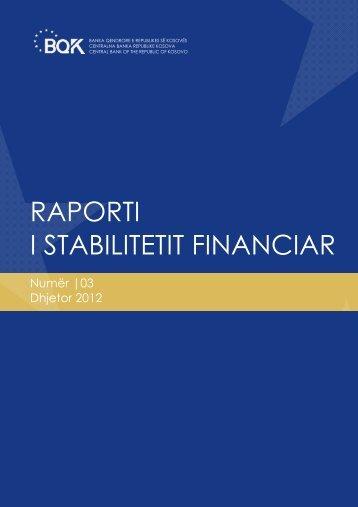 raporti i stabilitetit financiar - Banka Qendrore e Republikës së ...