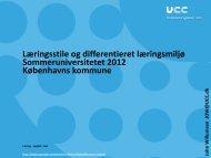 Læringsmiljø(er) og pædagogisk analyse, læringsstile ... - mitBUF.dk