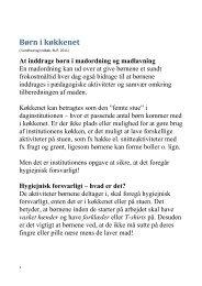 Læs mere om børn i køkkenet (pdf). - mitBUF.dk