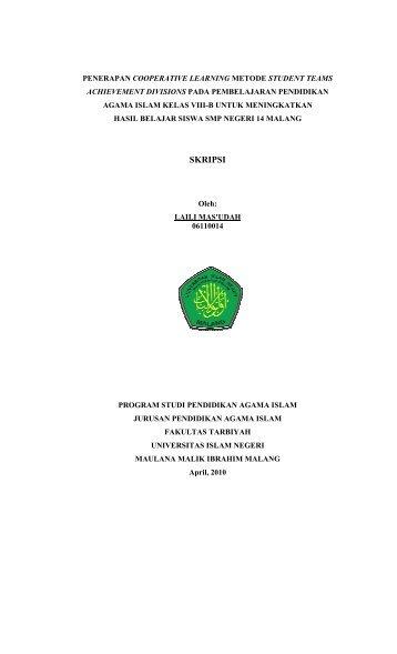 Skripsi - Isi - Digilib UIN Malang