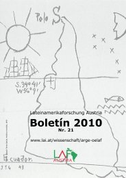 Boletín 21 (2010) - Lateinamerikaforschung Austria