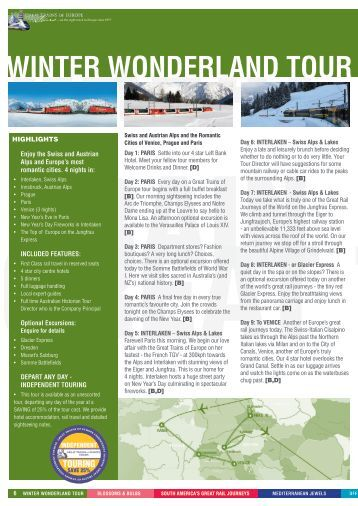 Brochure & Booking Form - Great Trains of Europe Tours