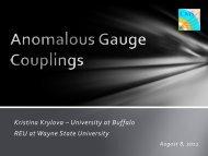 Anomalous Gauge Couplings - RHIG - Wayne State University