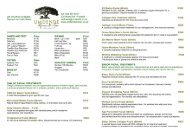 Price List (Spa) - Umdende Manor and Spa