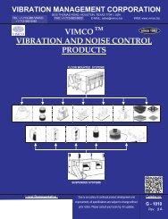 G-1010 - Vibration Management Corporation