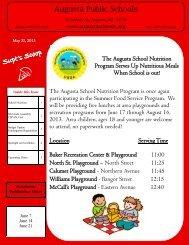 Newsletter - City of Augusta, Maine - School Department