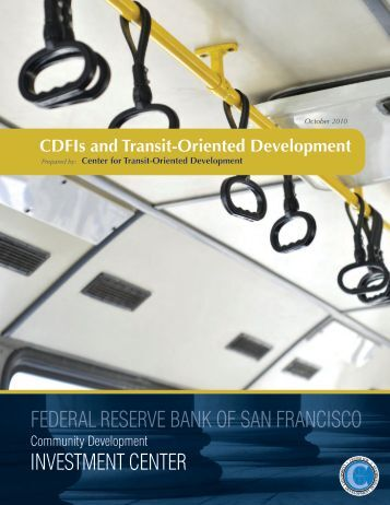 CDFIs & TOD - Center for Transit-Oriented Development