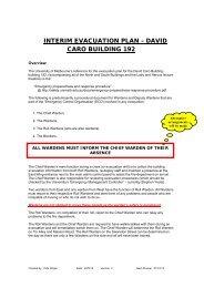 interim evacuation plan – david caro building 192 - School of Physics