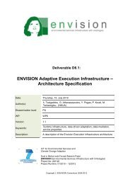 Envision Infrastructure Architecture Specification