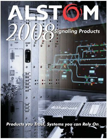 2008 ALSTOM Signaling Products Catalog