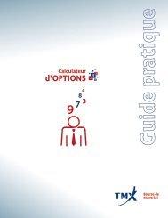 Guide pratique du calculateur - Bourse de Montréal