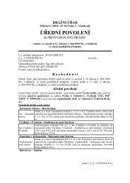 Úřední povolení k provozování regionálních drah ve ... - Drážní úřad