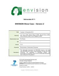Version 2 - ENVISION – ENVIronmental Services Infrastructure with ...