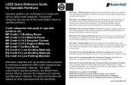 LEED Quick Reference Guide - Modern Door & Equipment Sales, Inc.