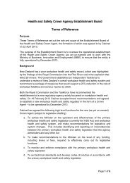 Terms of Reference for the Establishment Board - Ministry of ...