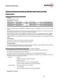 Systemvoraussetzungen Produkte der ReNoStar GmbH (Stand ...