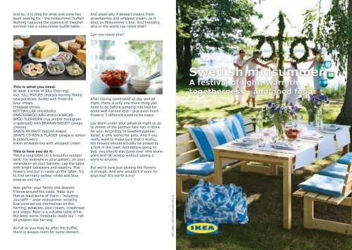 Swedish midsummer - IKEA store