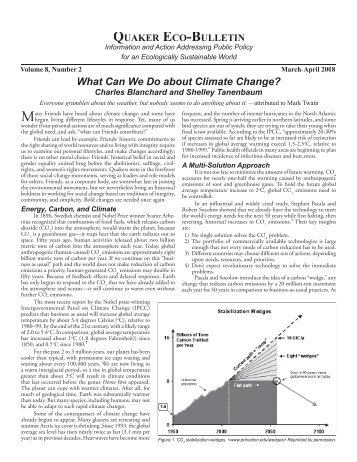 What Can We Do about Climate Change? - Quaker Earthcare Witness