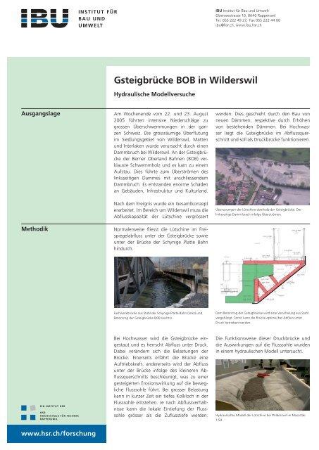 Gsteigbrücke BOB_Lütschine.indd - IBU - Institut für Bau und Umwelt