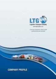 A service experience that is both professional and ... - LTG Freight