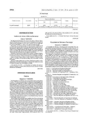 Licenciatura em Biologia Celular e Molecular - Faculdade de ...