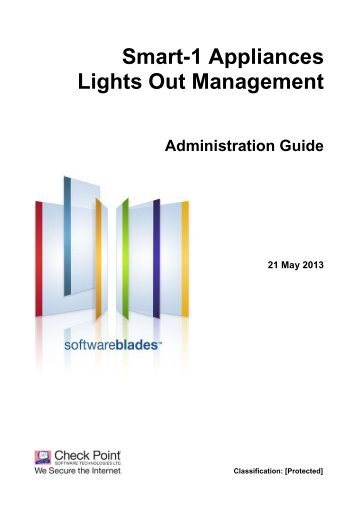 Smart-1 Appliances Lights Out Management ... - Check Point