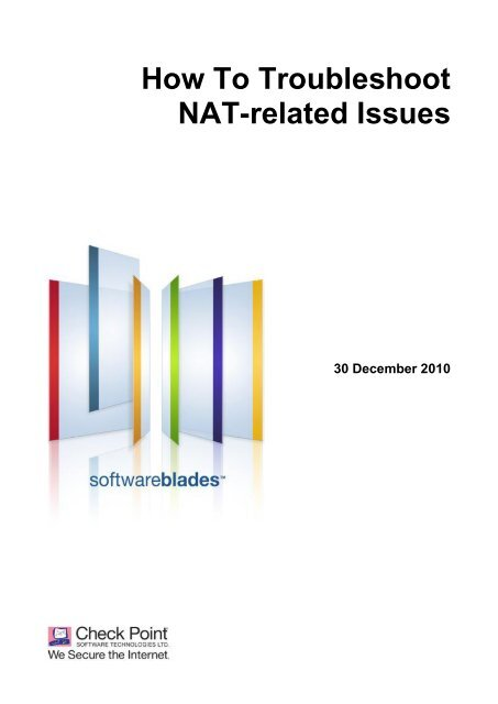 How To Troubleshoot NAT-related Issues - Check Point