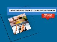 Effective Solution for Office Carpet Cleaning in Geelong