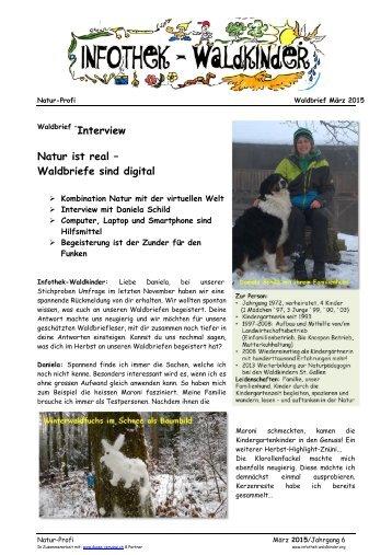 Infothek Waldkinder - Interview Natur ist real – Waldbriefe sind digital