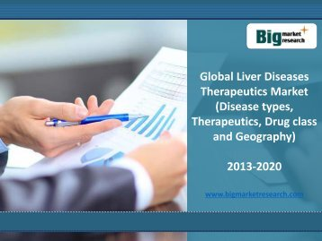 Global Liver Diseases Therapeutics Market Forecast, Segmentation 2020