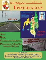 The Philippine EPISCOPALIAN - Episcopal Church in the Philippines