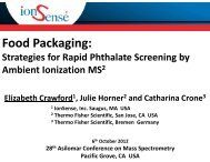 Food Packaging: Strategies for Rapid Phthalate ... - IonSense