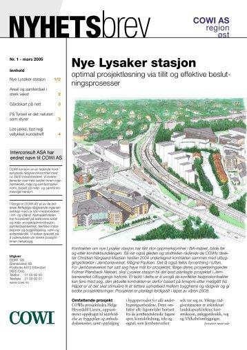 Nye Lysaker stasjon - Cowi